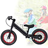Weikeya Bici Infantil, Bicicleta de no Pedal sin Pedal Habilidad de reacción Corporal Habilidad de Aluminio Habilidad de autocontrol (Negro)
