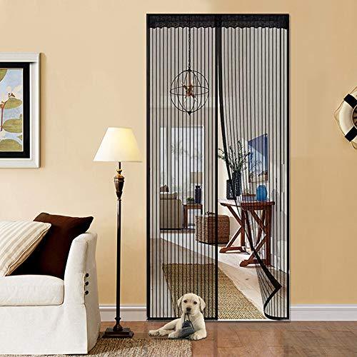 Magnetic Curtain Door Fit Doors Up to 38 x 82 inch EVAYLIOX Magnetic Screen Door Curtain with 28 Magnets Tape Heavy Duty Magnetic Mesh Screen Door Self Sealing Pet and Kid Friendly