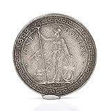 Materiale: ottone placcato argento Dimensioni: diametro del dollaro d'argento 38,8 mm, spessore: 2,3 mm Le monete d'arte possono anche essere un buon regalo per i tuoi amici. Souvenir d'arte e da collezione, regali aziendali, decorazioni per le feste...