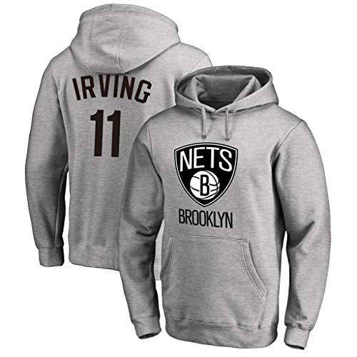 Heren Hoodies Brooklyn Nets 11 Irving Logo Print Casual Sport Comfortabele Hooded Pullover