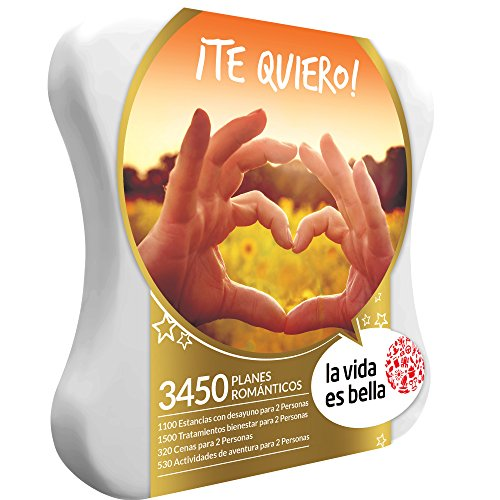VIDA ES BELLA - Caja Regalo - ¡TE QUIERO! - 3450 planes romántico