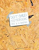 Dot Grid Notebook 8.5 x 11 Inches: Oriented Strand Board (OSB) and Word Art Cover 110 Pages Soft Matte Laminated Paperback Cover