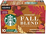 Starbucks Fall Blend Medium Roast Ground Coffee K-Cups - Hearty with Spice Notes - 10 K Cup Pods/Pack (Pack of 1)