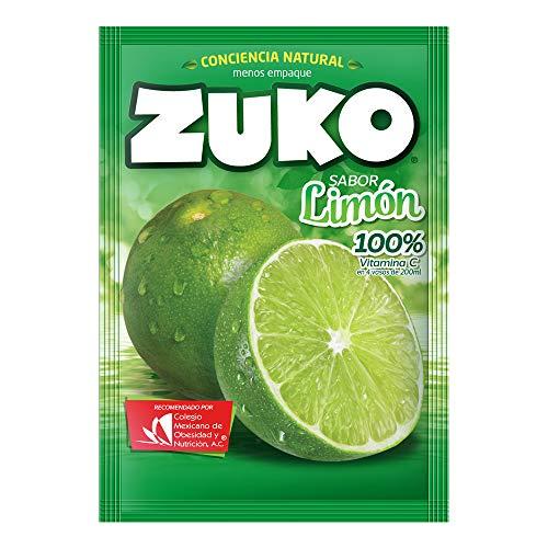 3 x zuko limon no sugar needed drink mix packs 15g each