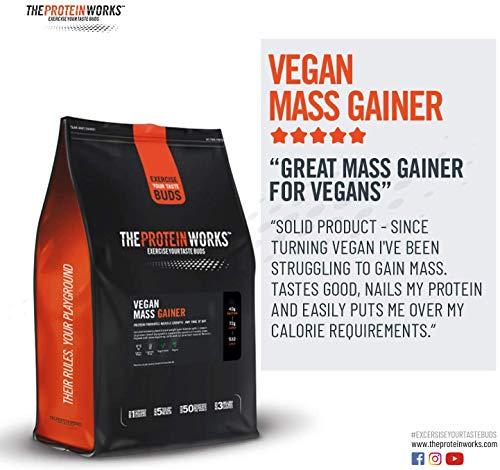 Vegan Mass Gainer | 100% Plant Based | High Calorie Protein Powder | Weight Gainer | THE PROTEIN WORKS | Vanilla Crème | 2 Kg