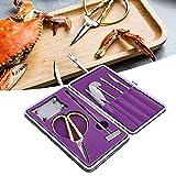 Emoshayoga Crab Tools Set di forchette per Cracker di Granchio Facili da Usare 8 Pezzi Set...
