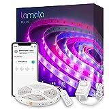 Tiras LED Wi-Fi Inteligente 5M, con Control APP, Sync con Música y Varios Escenas. Compatible con Alex y Google Home. Adecuada para la Habitación, Navidad, TV, Dormitotio, Fiestas y Decoración.
