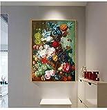 ganlanshu Pintura sin Marco Europea Vintage Flor Arte...