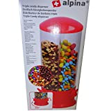 Alpina Candy Spender Bonbons Kaugummi Erdnüsse Cerialien Müsli 3 Fächer 29 x 13 cm rot