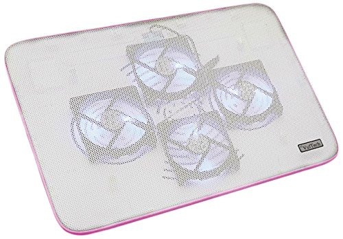 Vultech SN-04P 10.1  Pink notebook cooling pad - Notebook Cooling Pads (25.6 cm (10.1 ), 4 pc(s), 39.6 cm (15.6 ), 8 cm, 0-20°, Pink)