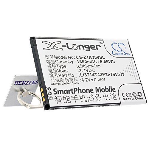 Cameron Sino, batteria agli ioni di litio 1500 mAh, adatta per cellulare ZTE Blade A3, Blade A5, T220, T230, AF3, T221, AF5, Blade C341, sostituisce ZTE Li3714T42P3h765039