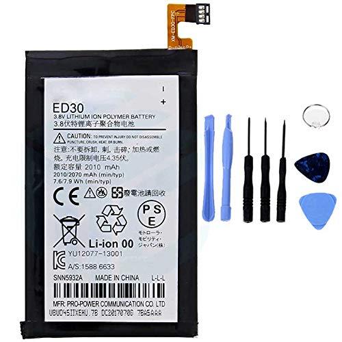 Ellenne Akku kompatibel mit Motorola Moto G2 XT1063 XT1068 ED30 AD hohe Kapazität 2070MAH mit Kit