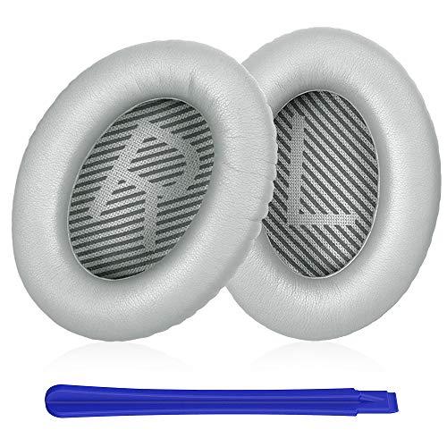 Almohadillas Bose,TesRank Repuesto Espuma para Auriculares Bose QuietComfort 35 35II 2 15 25 AE2 AE2i AE2w SoundTrue SoundLink QC35 QC35II Almohadilla Reemplazo Bose-Plata