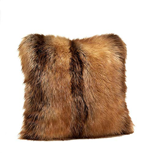 """Fabulous Furs: Faux Fur Luxury Pillow, Red Fox, Available in standard size 18""""x18"""" and Euro size 24""""x24"""", by Donna Salyers -  Donna Salyers Fabulous Furs, 10500REDFOX24"""