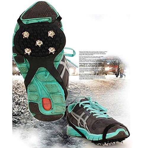 Bluelover 1 Par De 5 Crampones De Dientes Evitar Que Los Niños Resbaladizos Zapatos De Alzamiento Tipo Patinaje sobre Hielo Garra Zapatos Cubierta