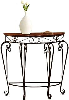 Tables HAIZHEN Pliable Semi-Circulaire de Porche de de Fer par Le Porche de Mur, 60 * 30 * 70CM Stations de Travail inform...