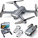 SYMA X500 4K Drone with UHD Camera for Adults, Easy GPS Quadcopter for Beginner with 56mins Flight Time, Brush Motor, 5GHz FPV Transmission, Auto Return Home, Follow Me, Light Positioning, 2 Batteries