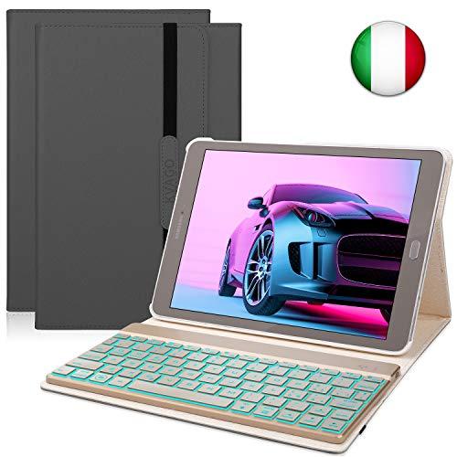 tablet samsung s2 KVAGO Custodia Tastiera per Samsung Galaxy Tab S2 9.7