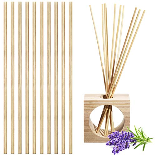 50 Pieces Lavender Pre-Fragranced Reed Diffuser Refill Sticks Air Freshener Reed Diffuser No Oils, Sprays or Flames for Living Room, No Bottle Included