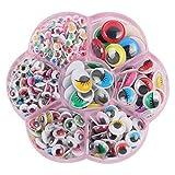 TOYANDONA 1 Set Googly Wackeln Augen Wimpern Augen Selbstklebend für DIY Scrapbooking Handwerk Aufkleber Augen Spielzeug Zubehör (Bunt)