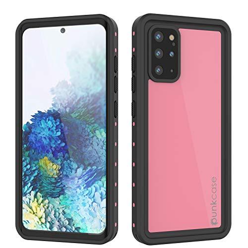 Punkcase S20 Plus Waterproof Case [StudStar Series] [Slim Fit] [IP68 Certified] [Shockproof] [Dirtproof] [Snowproof] Armor Cover Compatible W/Samsung Galaxy S20 Plus (6.7') [Pink]