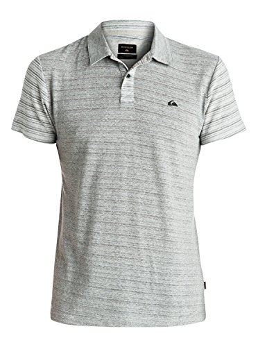 Quiksilver Cimbelloport Polo Homme, Medium Grey Heather, FR : S (Taille Fabricant : S)