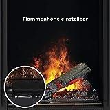 Faber Juneau Indoor Log Insert Fireplace Electric Black–Kamin (570mm, 260mm, 340mm, 15kg, 680mm, 380mm) - 8