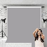 Kate 6.6x10フィート 写真撮影用背景幕 ピュアグレー 無地 写真スタジオ用小道具 背景幕