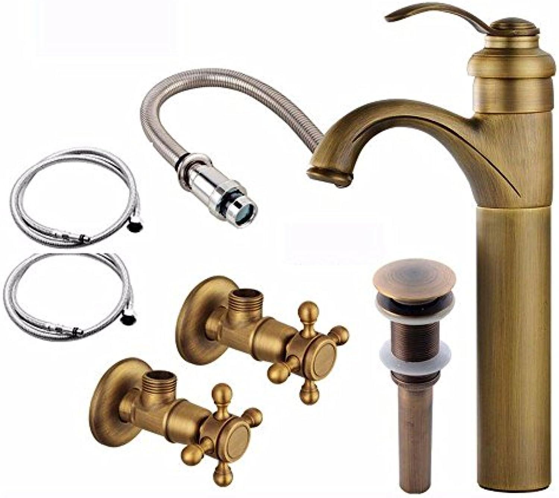NewBorn Faucet Küche oder Badezimmer Waschbecken Mischbatterie Messing Keramik Ventil Einzigen Griff Ein Loch heie und Kalte Mischventil Paket 10.
