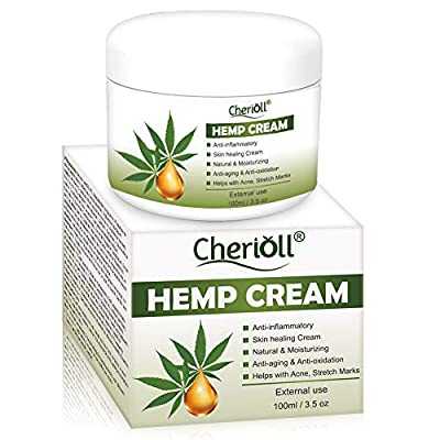 Hemp Cream, Hemp Healing Cream, Natural Hemp Extract, Reduces Signs of Aging, Stretch Marks, Scars, Relax The Skin While Improving Elasticity With The Power of Hemp by