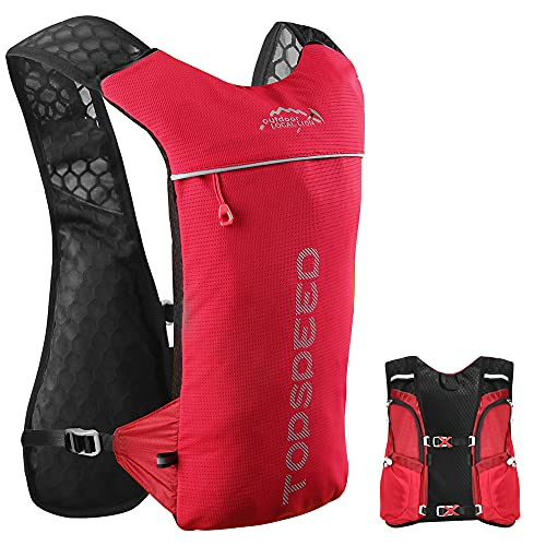 Trinkrucksack Laufrucksack Unisex Ultraleicht Trinkweste für Außenbereich Sport Radfahren Camping Wandern Klettern Marathon 2L