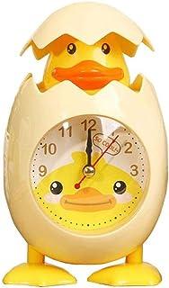 JJSPP ファッションかわいい漫画チキン卵シェルデスクトップ時計目覚まし時計用子供ギフト家の装飾黄色