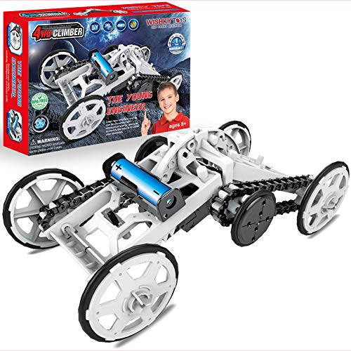 WISHKY STEM Toys Boys 10-12, science kit, Project for Kids, The Young Engineer- Sets for boys 8-12| 4WD Electric Mechanical Toy, Experiment Kit for Kids, Gifts for Boys Girls Aged 8 9 10 11 12 & Older