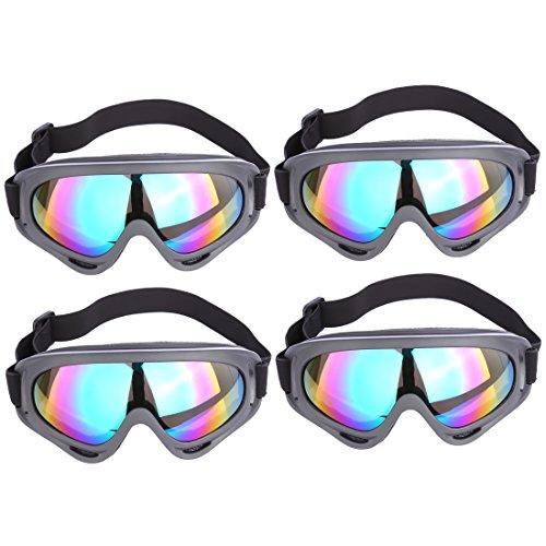 Schutzbrillen, Foxom 4 Stück Schutzbrille Schleifbrille Brillen Safety Goggles für Nerf Partie