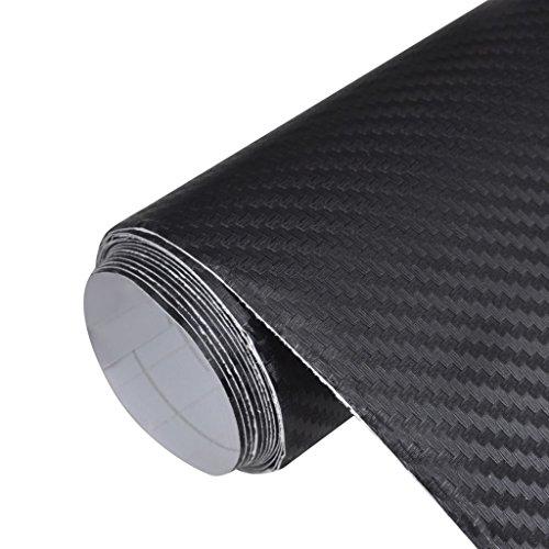 3D Charbon fasser voiture d'écran Mat Noir 152 x 200 cm Matériau : PVC écologique