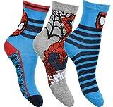 Marvel Avengers Spiderman 3er Pack Socken Blau 23-26