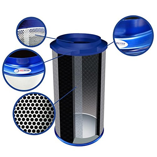Bull Filters – Filtro a carbón – 150 x 500 mm – 1000 M3/H: Amazon ...