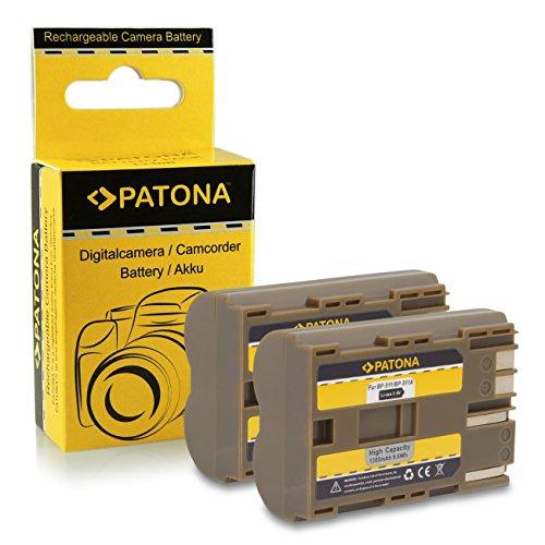 2x Batería BP-511 para Canon PowerShot G1 | G2 | G3 | G5 | G6 | Pro1 | Pro 90 IS | EOS 5D...