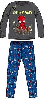 Pijama Largo Gris Spiderman Marvel 4 años 100% algodón