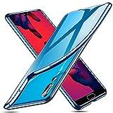 ESR Transparente Hülle kompatibel mit Huawei P20 Pro - Weiche Flexible Silikon Bumper Handyhülle - Schutzhülle mit Klarem Durchsichtigen TPU (Blau Beschichteter Rahmen)