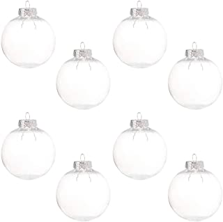 Clear Ornaments Balls DIY Plastic Fillable Xmas Tree Hanging Decorations Transparent Ball Baubles Craft for New Year Holid...