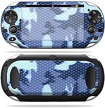 MightySkins Skin Compatible with PS Vita PSVITA Playstation Vita Portable wrap Sticker Skins Blue Camo