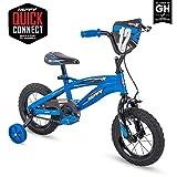 "Huffy Kid Bike, Moto X, Quick Connect, Gloss Blue, 12"""