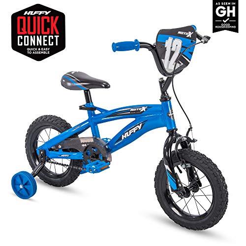 Huffy Kid Bike, Moto X, Quick Connect, Gloss Blue, 12