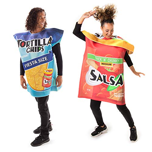 Tortilla Chips & Salsa Jar Couples Costume – Cute Funny Food Halloween Outfits