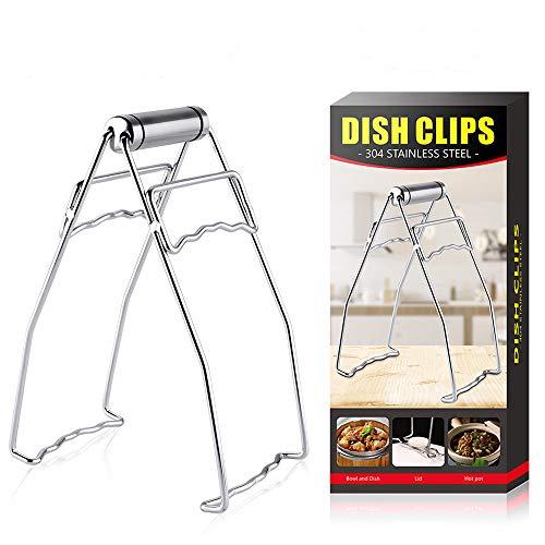 Latauar Clip Para Plato de Acero Inoxidable - Pinzas Para Platos Calientes Plegables de Cocina