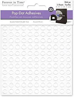 Forever in Time 3D Pop Dots for Scrapbook, 264-Piece