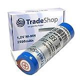Trade-Shop Accumulateur à hautes performances Ni-MH 2500 mAh 1,2 V Pour Braun Oral-B Triumph 4000 5000 9000 9400 9500 9900, Braun...