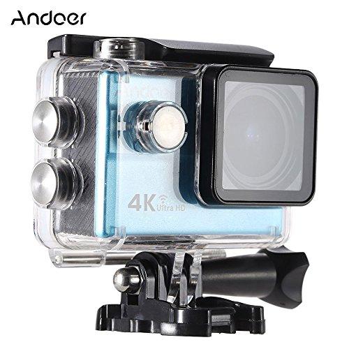 'Andoer Ultra HD azione sport camera 2.0LCD 16MP 4K 25fps 1080P 60FPS 4x zoom Wi-Fi 25mm 173degreés Wide-Lens étanch 30m Auto DVR DV Cam immersioni Bicicletta attività + 16GB 10Class Scheda Micro SD