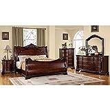 247SHOPATHOME Bedroom set, Queen, Cherry